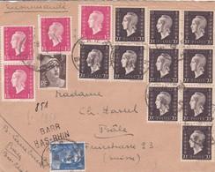 Env Recommandée T.P. Ob Barr ...4 46 Pour Bale Suisse ( Tarif 20f ) - 1921-1960: Période Moderne