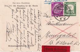 ALLEMAGNE 1935ENTIER POSTAL/GANZSACHE/POSTAL STATIONERY CARTE POSTALE EN EXPRES DE WARENDORF - Allemagne