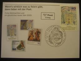 Österreich- Christkindl 29.11.2019 FDC 70 Jahre Postamt Christkindl Auf ÖPT Karte - Sin Clasificación