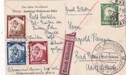 ALLEMAGNE 1935   ENTIER POSTAL/GANZSACHE/POSTAL STATIONERY CARTE POSTALE EN EXPRES POUR LEIPZIG - Allemagne