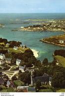 PORTSALL   KERSAINT  Vue Panoramique Aérienne Sur Portsall  Carte écrite En 1969  2 Scans  TBE - Kersaint-Plabennec