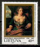 Lithuania 1995 Lituania / Art Painter F. Smuglevicius Painting MNH Pintor Pintura Arte / Kd14  36-62 - Modernos