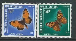 Afars Et Issas N° 438 / 39 XX  Papillons, La Paire Sans Charnière, TB - Afars Et Issas (1967-1977)