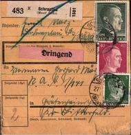 ! 1943 Paketkarte Deutsches Reich, Schraplau Im Mansfelder Seekreis N. Gräfenhainichen, Reichsarbeitsdienst, R.A.D.Lager - Briefe U. Dokumente