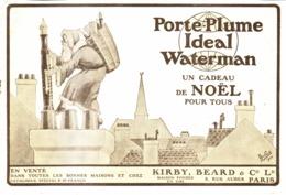 """PUB STYLO WATERMAN """" IDEAL WATERMAN   """" Avec Le PERE NOEL  1920 - Non Classés"""