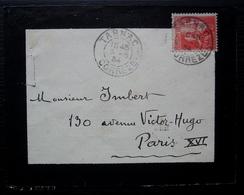 Tarnac 1934 (Corrèze) Petite Lettre Pour Paris - Postmark Collection (Covers)