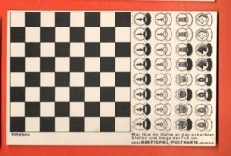 MTZ-03b RARE Jeu D'échecs Carte à Système Avec Toutes Les Pièces Gaufrées Relief . Brettspiel-Postkarte, Non Circulé - Echecs