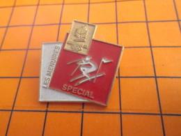 1819 PINS PIN'S / Beau Et Rare : Thème JEUX OLYMPIQUES / ALBERTVILLE 1992 LES MENUIRES SLALOM SPECIAL - Olympic Games