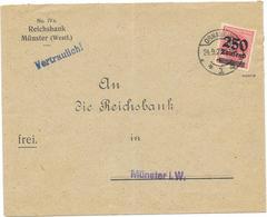 DR Infla Brief EF Mi.295 Osnabrück 24.9.23, Geprüft - Allemagne