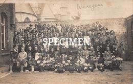 Fotokaart Retraite Alleen Voor Meisjes Op De Koer Van De Vroegere Naaischool 1928 - Waregem - Waregem