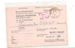 1941 PRISONNIERS DE GUERRE  CARTE POSTALE DU OFLAG XIII A POUR BESANCON  ( DOUBS) - Marcophilie (Lettres)