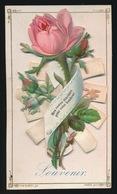COLLAGE - PREMIERE COMMUNION  GENT 26 MARS 1882  ALFRED VANDER STEGEN   2 SCANS  11.5 X 6.5 CM - Images Religieuses