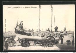 Cpa **quiberon ** Lot De 2 Cpa  Le Bateau De Sauvetage + Bénédiction Du Canot  De Sauvetage  ** - Quiberon
