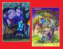 AZERBAIJAN BELARUS JOINT ISSUE. FAIRY TALES 2019 Set Of 2 Stamps - Azerbaïjan