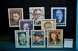 At23644 8 X Nobelpreisträger Aus Österreich, Nobelpreis, Nobel Prize, Prix Nobel, Premio Nobel Austria, Schöne Stempel ! - 1945-.... 2nd Republic