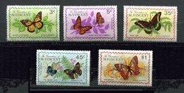 St Vincent * N° 60 à 64 - Papillons - St.Vincent (1979-...)
