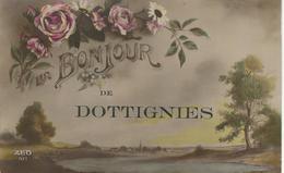 BONJOUR De DOTTIGNIES - Cachet De La Poste 1920 - Mouscron - Moeskroen