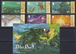 Alderney 2010 Peter Pan 6v (+margin) + M/s ** Mnh (45485) - Alderney