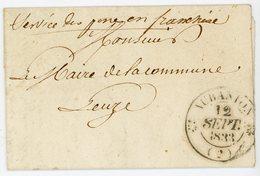 AISNE 1833 LETTRE AUBANTON FRANCHISE DE POSTE VOIR TEXTE => La Directrice De La Poste Aux Lettres D'Aubanton / Monsieur - 1801-1848: Voorlopers XIX