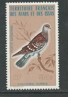 Afars Et Issas P.A. N° 105 X Oiseau Colombe, Trace De Charnière Sinon TB - Afars Et Issas (1967-1977)