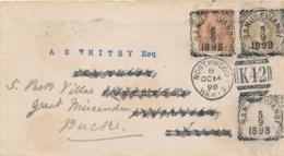 Nederlands Indië - 1898 - 10 Cent Hangend Haar Op 15 Cent Envelop G8 Van VK BANJOEWANGI Naar Northwood / UK - Niederländisch-Indien