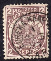 Transvaal 1885-93 Arms & Wagon 2d Brown-purple, Perf. 12½ X 12, Used, SG 177 - Südafrika (...-1961)