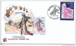 Env Fdc France Epernon 16/3/96, N° 2990 Y Et T, Journée Du Timbre 96, Semeuse 1903 De Roty - 1990-1999