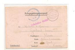 194? PRISONNIERS DE GUERRE LETTRE AVEC INSTRUCTION D'ENVOI DU  STALAG XI B FALLINGBOSTEL  POUR NIMES (GARD) - Guerre De 1939-45