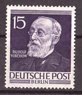 Berlin - 1952/53 - N° 82 - Neuf ** - Rudolf Virchow - Nuovi