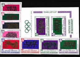 D01049)Olympia 68: Kathiri St. In Hadhramaut 175 - 182 B** + Bl 17 B** - Sommer 1968: Mexico
