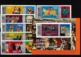 D01067)Olympia 68: Jemen Arab. Rep. 784 - 789** + Bl 77** - Sommer 1968: Mexico