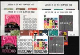 D01084)Olympia 68: Mexico 1283 - 1292** + Bl 15 - 18** - Estate 1968: Messico