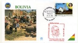 DP00037)Papst Johannes Paul 2., Papstreisenbrief  Bolivien 1988 - Päpste