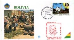 DP00045)Papst Johannes Paul 2., Papstreisenbrief  Bolivien 1988 - Päpste
