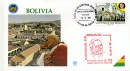 DP00040)Papst Johannes Paul 2., Papstreisenbrief  Bolivien 1988 - Päpste