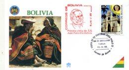 DP00039)Papst Johannes Paul 2., Papstreisenbrief  Bolivien 1988 - Päpste
