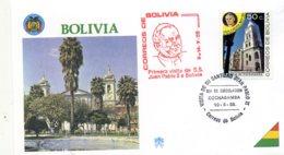 DP00042)Papst Johannes Paul 2., Papstreisenbrief  Bolivien 1988 - Päpste