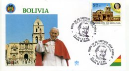 DP00043)Papst Johannes Paul 2., Papstreisenbrief  Bolivien 1988 - Päpste