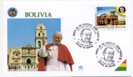 DP00050)Papst Johannes Paul 2., Papstreisenbrief  Bolivien 1988 - Päpste