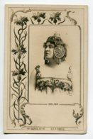 ARTISTE 1132 DELNA Portrait ART NOUVEAU Pivoines Bijoux  1900    Photog Reutlinger   19 Em Serie No 19 SIP - Entertainers