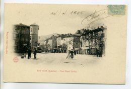 07 LES VANS Anim Place Henri Thibon 1905 Timb Dos Non Divisé     /D15-2017 - Autres Communes