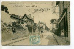 95 CORMEILLES En PARISIS Militaire Rue Daguerre Et Bureau De Postes Et Télégraphes 1904 Timb     --/D14-2017 - Cormeilles En Parisis