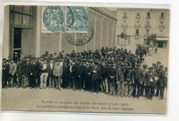 44 NANTES Carte  RARE 3 Juin 1907 Greve Inscrits Maritimes Grevistes Arraivant Au Champ De Mars Réunion  /D15-S2017 - Nantes
