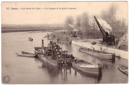 TOURS - Les Bords Du Cher - La Drague Et La Grue  à Vapeur - Tours