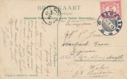 Nederlands Indië - 1913 - 5 Cent Cijfer Op Ansicht Van KB Semarang Naar Goginan / Wales / UK - Niederländisch-Indien