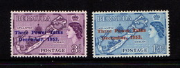 BERMUDA    1953    Three  Power  Talks    Set  Of  2    MH - Bermuda