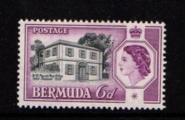 BERMUDA    1959    Perots  P Ost  Office  6d  Black  And  Deep  Mauve    MNH - Bermuda