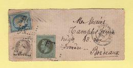 Affranchissement De Septembre 1871 - Devant De Lettre - Marcophilie (Lettres)