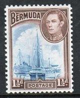 Bermuda George VI 1½d Single Stamp From The 1938 Definitive Set. - Bermuda