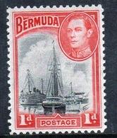 Bermuda George VI 1d Single Stamp From The 1938 Definitive Set. - Bermuda